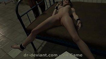 Худая красотка прилегла на пол и стала мастурбировать